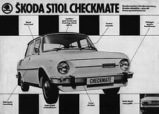 Skoda S110 L Checkmate 1976 Original UK Single Sheet Sales Brochure