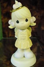 "Precious Moments ""Daddy's Little Angel"" # 887951-Girl Wearing Halo & Wings-NIB"
