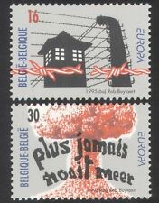Belgium 1995 Peace/Freedom//Barbed Wire/WWII/Remembrance 2v set (n39071)