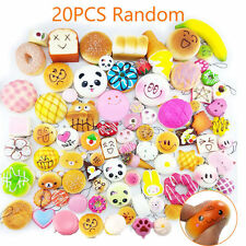 20pcs/Set Random Kawaii Squishies Soft Panda Bread Cake Buns Phone Straps