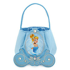 Disney Store Cinderella Trick-or-Treat Bag Felt Princess Blue Halloween NEW