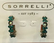 Sorrelli HOOP EARRINGS EBP15AGEME Emerald color Collection FREE SHIPPING
