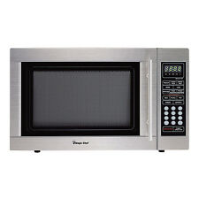 Magic Chef MCD1310ST 1000W 1.3 cu.ft. Countertop Microwave Oven Stainless Steel