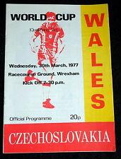 Wales v  Czechoslovakia  world cup     30-3-1977        @ Wrexham