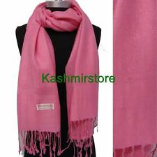New Pashmina Paisley Floral Silk Wool Scarf Wrap Shawl Soft Classic Pink