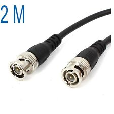 2M 6feet CCTV Video Camera DVR Male to Male BNC Connector Coaxial Cable