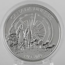 2013 $1 100th Anniversary Canadian Arctic Expedition 99.99% Pure Silver BU Coin