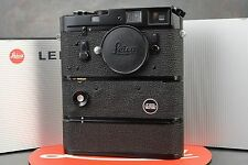 :Leica M4 MOT 35mm Black Paint Camera w Motor & AA Battery Pack EXC+++ Condition