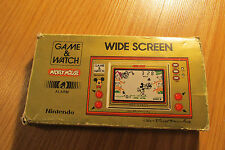 NINTENDO 1981 GAME AND WATCH - MICKEY MOUSE Complete in box CIB RARE