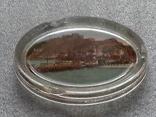 antique reverse glass souvenir paperweight ashtray Ehrenbreitstein fortress