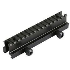 """Tactical See-Through Flat Top 1"""" Riser Scope Mount for Picatinny Rail"""