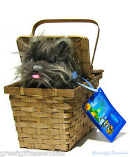 DELUXE TOTO in a BASKET Wizard of Oz Dorothy Dog Costume Accessory LICENSED New