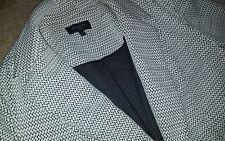Womens Talbots Blazer black white jacket coat plus size 3X 3XL blouse