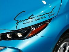 Sports Mind Sticker fits Skoda Actavia Superb Fabia Decal Emblem Car Logo SM38