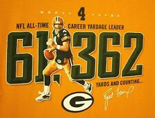 GREEN BAY PACKERS tee Brett Favre lrg T shirt football All-Time Yardage Leader