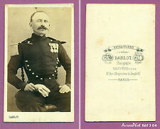 CDV DARLOT à PARIS : MILITAIRE OFFICIER D'ARTILLERIE MÉDAILLÉ SECOND EMPIRE -J64
