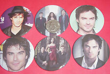 """Vampire Diaries Ian Somerhalder Set Of  6 LARGE 2 1/4"""" Buttons Pins Party Favors"""