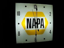 PAM...TELECHRON...ADVERTISING CLOCKS LED BULBS, TEXACO, NAPA, GULF,SHELL
