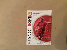 MK DONS 2007 Summer Camps Brochure