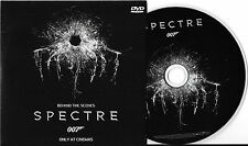 JAMES BOND 007 SPECTRE DANIEL CRAIG DVD (BEHIND THE SCENES OF SPECTRE) NEW
