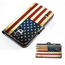 US Flag Soft Leather Phone Flip Skin Case Cover For Samsung Galaxy S5 SV i9600