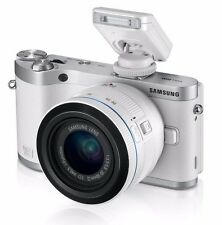 "Samsung NX300 20.3 MP 3.3"" LCD Mirrorless Digital Camera - White w/20-50mm Lens"