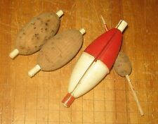 EARLY FISHING CORK AND PLASTIC BOBBERS FLOATS