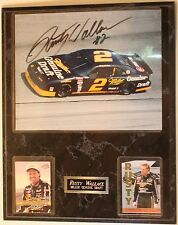 "Rusty Wallace Signed 8 x 10"" Photo Nascar w/Cards 15 x 12"" Wall Plaque Autograph"