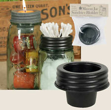 Farmhouse/Cottage/Primitive/Country Mason Jar Sundries Cup Lid Holder
