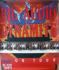 RARE BIG AUDIO DYNAMITE 1989 VINTAGE ON TOUR MUSIC PROMO STORE POSTER
