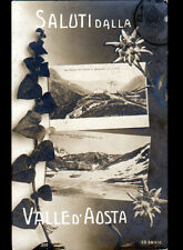 VALLE D'AOSTA (ITALIE) OSPIZIO del PICCOLO GRAN S. BERNARDO / Saluti en 1910