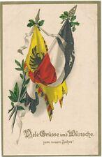 AK / Prägekarte ...Viele Grüsse und Wünsche zum neuen Jahr... gel. 1916