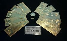 PERFECT DETAIL MINT GOLD GERMAN Mark Banknote Set W/COA + COIN&MORE FREE S&H!