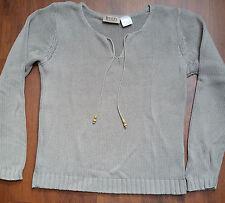 grauer Baumwollpullover Gr. 36/38 v. Boysens Damenpullover Pullover