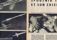 COUPURE DE PRESSE CLIPPING 1957 SPOUTNIK II et son chien   (6 pages)