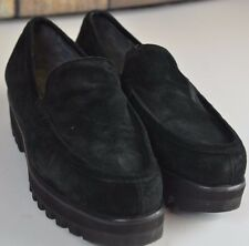 Robert Clergerie Slip On Shoes Black Suede Size 7 Comfortable Outdoor Walking