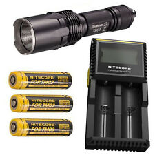 Nitecore TM03 XHP70 LED Flashlight -2800Lm  w/3x 18650 Batteries & D2 Charger