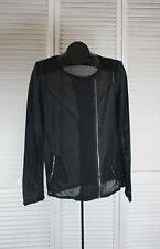 Women's Tops & Blouses - Nicole Miller Zip Up Top - Large Black (style CAD)