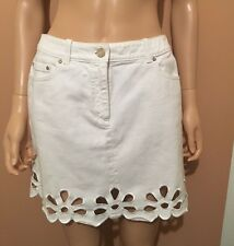 CHIC Celine Paris White Cotton Skirt Size 40