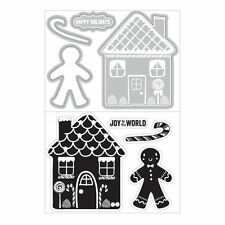 ART-C Clear Stamp & Cut Die Set GINGERBREAD HOUSE Winter