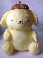 Vintage Sanrio Pom Pom Purin Nylon Plush Yellow Puppy Dog 16""