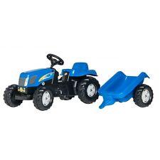 Rolly Toys New Holland T 7550 Traktor mit Anhänger Trettraktor ohne Frontlader