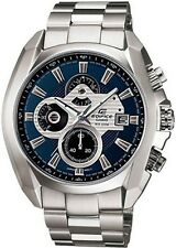 Casio Men's Edifice Chronograph Stainless Steel Dress Watch 100M Blue EF548D-2A