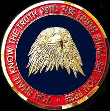 RARE CIA AGENT TRUTH CENTRAL INTELLIGENCE AGENCY HONOR CHALLENGE COIN MEDAL