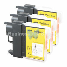 3 YELLOW LC65 Ink Set for Brother MFC-5890CN MFC-5895CW MFC-6490CW MFC-6890CDW