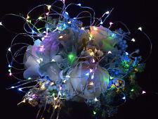 Bunt Weihnachten 10m USB Kupferdraht Lichterkette LED Vorhang Fenster Hochzeit