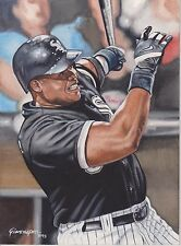 FRANK THOMAS Hand Painted 8 x 10 Chicago White Sox