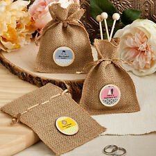75 - Personalized Design Your Own Collection Burlap Treat Bags - Wedding Favor