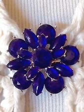 The mattie royal purple stone flower sweater clip brooch
