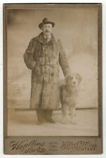 BEAUTIFUL MAN AND DOG Cabinet Photograph PHOTO Butte Montana DOGS Hazeltine's